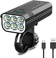 NIUAWASA Bike Headlight, USB Rechargeable Bicycle Lights Waterproof Mountain Bike Front Light with 5 Hours Hig