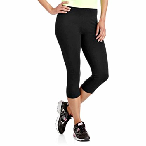 Danskin Now Women's Cotton Spandex Capri Fitness Leggings Black Soot X-Large
