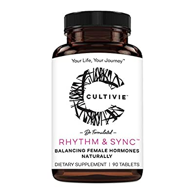 Hormone Balance Herbal Dietary Supplement for Women: Cultivie Rhythm & Sync - Natural Menopause Support & PMS Relief - Mood & Energy Boosting - Non GMO, Vegan & Gluten Free - 90 Tablets
