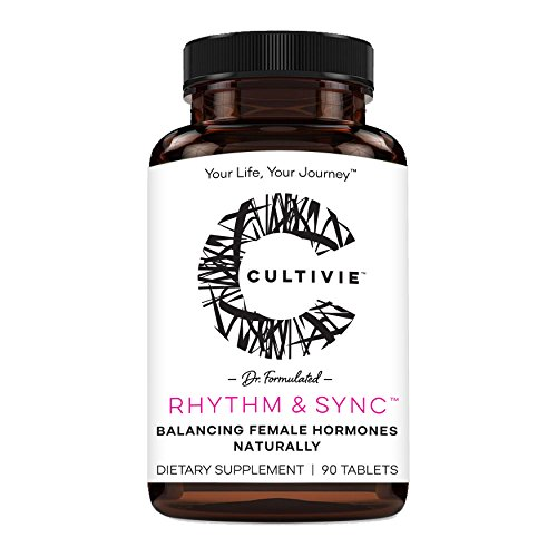 Hormone Balance Herbal Dietary Supplement for Women: Cultivie Rhythm & Sync - Natural Menopause Support & PMS Relief - Mood & Energy Boosting - Non GMO, Vegan & Gluten Free - 90 Tablets from Cultivie