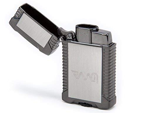 RAAM Double Jet Flame Lighter | Flip Top | Refillable Butane Lighter | Gun Metal