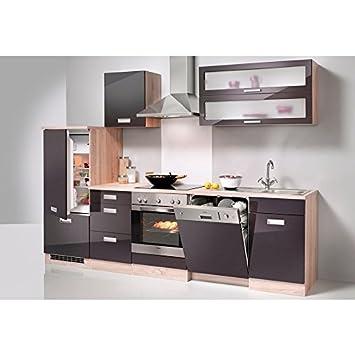 HELD MÖBEL Küchenzeile »Fulda«, ohne E-Geräte, Breite 280 cm grau ...