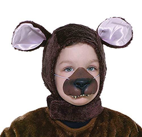 Forum Novelties Child Size Animal Costume Set, Brown Bear Hood and Nose Mask -