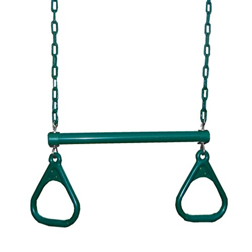 (Swing-N-Slide Extra-Duty Ring Trapeze Combo, Green)