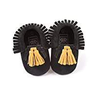 Voberry Infant Toddlers Baby Boys Girls Soft Soled Tassel Crib Shoes PU Moccasins