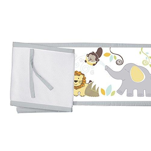 BreathableBaby Classic Breathable Mesh Crib Liner - Safari Fun Too