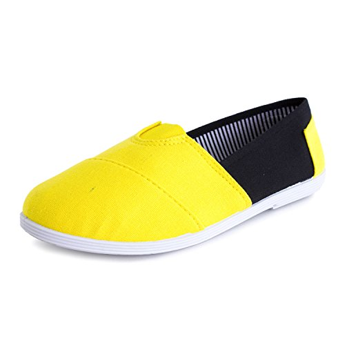 Kali Footwear Slip on Shoes Womens Adults Tone Canvas Double Yellow rrqdgpx4w