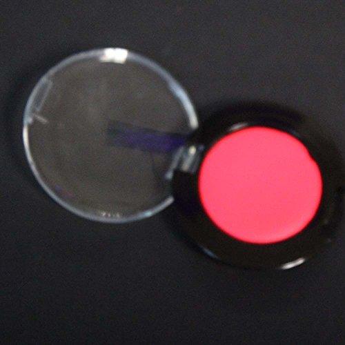 PINK Neon Cream Blusher/Rouge, Face & Body UV Black Light Make Up, Rave, Party Makeup -
