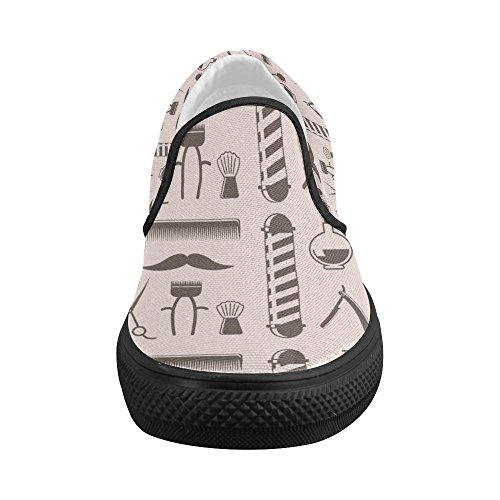 827cd5a4fce Shoes Hair Dresser Tools Pattern Slip-on Canvas Loafer For Women delicate