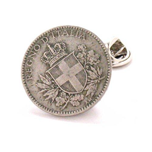Italy Tie Tack Lapel Pin Italia Rome Italian Coin Naples Venice Rome LDS Missionary ()