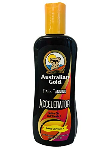 Australian Gold DARK TANNING ACCELERATOR Lotion 8.5 oz (Best Indoor Tanning Lotion Without Bronzer)