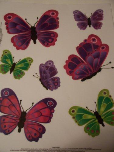 Summer Vinyl Reusable Window Clings ~ Flurry of Butterflies (Purple, Green)