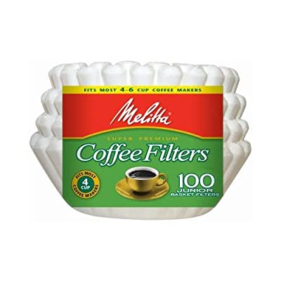 Melitta 62912 100-Count Melitta 4 - 6-Cup White Basket Coffee Filters