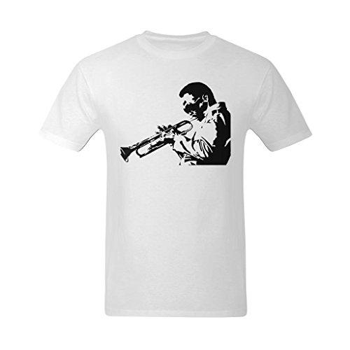 Nehasigo Men's Miles Davis Jazz Trumpeter Design T Shirt
