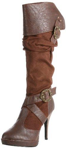 Funtasma by Pleaser Womens Carribean Knee-High Boot Brown Polyurethane