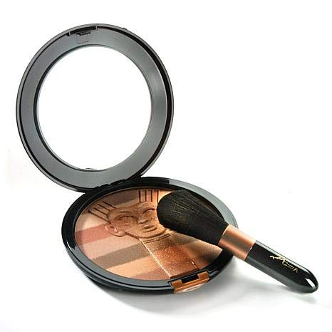 Signature Club A Nefertiti Golden Patina for Skin with Vitamin E 1.2 oz. with Makeup Brush by Signature Club A