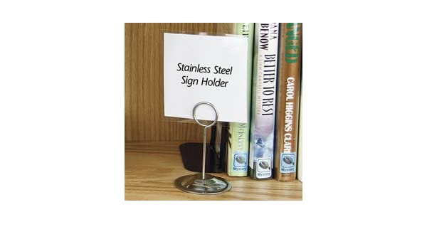 Amazon Com Decorative Sign Holders Stainless Steel Sign Holder