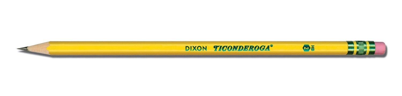 Dixon Ticonderoga Wood-Cased #2 HB Pencils, Six 24-Count Hang-Tab Boxes, Total 144 Pencils, Yellow (13924) (13924N) by Dixon (Image #2)