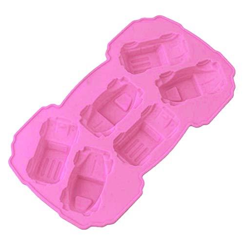 Carton Cars Shape Silicone Cake Mold Fondant Mold for Jelly Candy Chocolate soap Decorating Bakeware (Car Shape Mini)