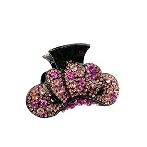 Elegant Crystal Womens Crown Hair Clip Hairpin Hair Claw Clamp Headwear (Color - 5)