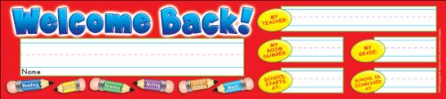 Super School Tool Nameplates (Welcome Back! Super School Tool Name)