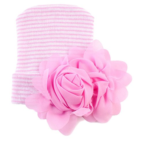 [Newborn Photography Prop,Buba Baby Big Flower Hat (Pink)] (Turban And Beard Costume)