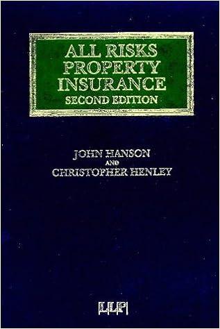 Helppo ranskalaiset kirjat ladata All Risks Property Insurance (Insurance Law Library) PDF CHM ePub by John Hanson