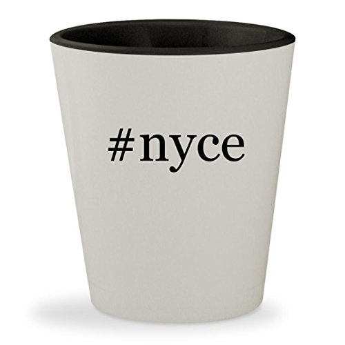Price comparison product image #nyce - Hashtag White Outer & Black Inner Ceramic 1.5oz Shot Glass