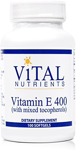 Vital Nutrients - Vitamin E 400 (with Mixed Tocopherols) - Potent Antioxidant, Cardiovascular Support - 100 Softgels
