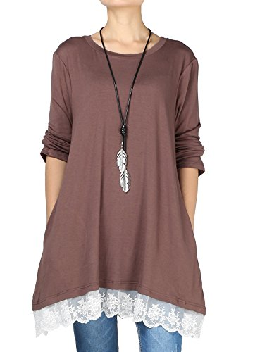 Long Sleeve Lace Thermal Top - 1