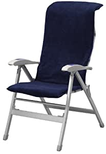 Campart - Funda para silla de camping, color azul marino