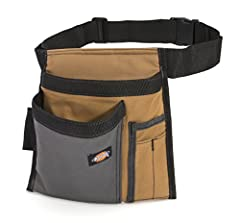 Whether you're a master craftsman or proud do-it-yourselfer, you'll always be able to rely on the Dickies Work Gear 57026 Grey/Tan 5-Pocket Single Side Apron. Constructed of heavy-duty canvas, this side apron features a single pouch with two ...