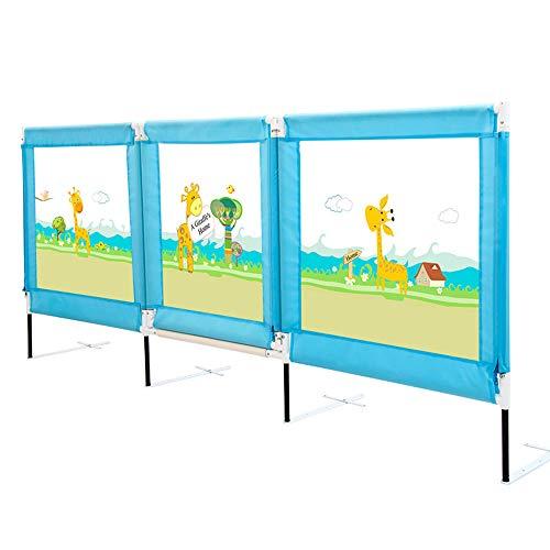 Xyanzi-Bed Rails Child Bed Railing Baby Safety Fences 180° Level Open Door Armrest Large Bed Baffle, 2 Colors (Size : Blue-1.5M) -