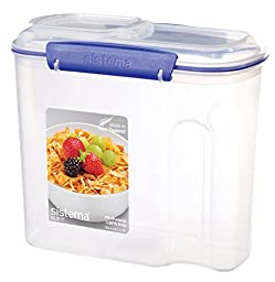 Sistema Klip It Collection Cereal Food Storage Container, 94 Ounce/11 Cup