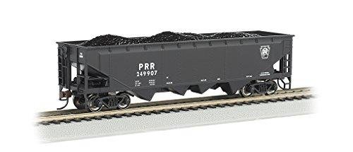 Bachmann 40' Quad Hopper Car-Pennsylvania #249907-Black-HO Scale Hobby Train Freight, Prototypical Black