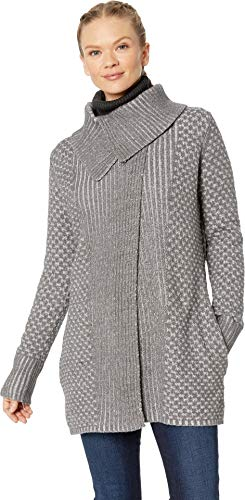 Royal Robbins Women's Frost Cardigan Athletic Sweater, Small, Pewter