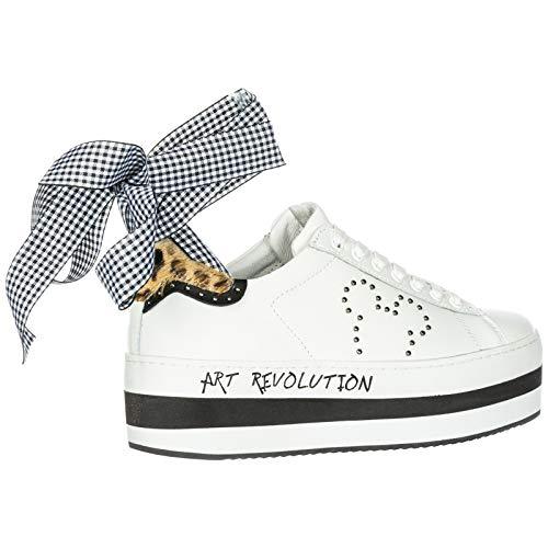 Piel Zapatillas Blan Mujer Deporte Of Disney Master De Zapatos Moa En Arts B6wqz