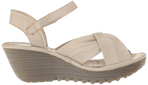 Fly London Womens Yesh712fly Plattform Sandal Betong Mousse