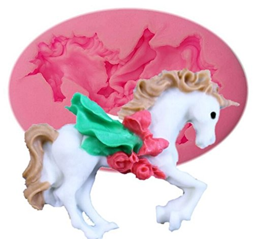 Amazon.com: Zoomy far: Carousel Horse 3d Fondant Cake Mold Moldes Para Chocolate Mold Soap Fondant Cake Decoration Tools A490: Kitchen & Dining