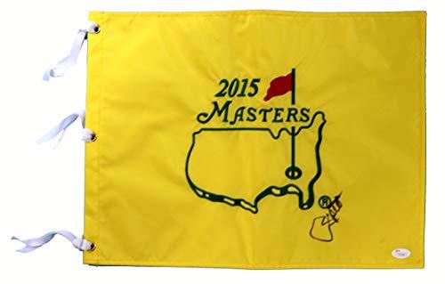 Jordan Spieth Signed Autographed 2015 Masters Golf Pin Flag JSA LOA COA ()