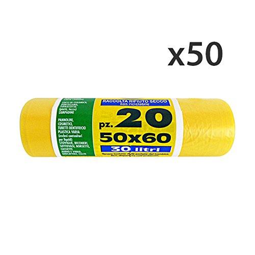 VIROSAC Juego 50 Bolsas amarillas 50 x 60 20 piezas Peterpan ...