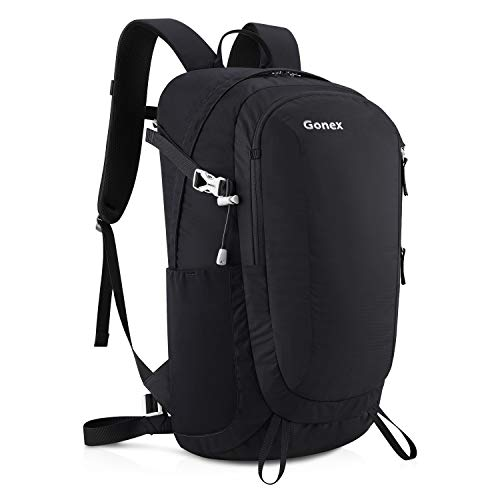 037b2ec54674 Gonex 30 Liters Small Hiking Backpack Lightweight Water Repellent Daypack  for Travel Camping Outdoor with Rain Cover Black