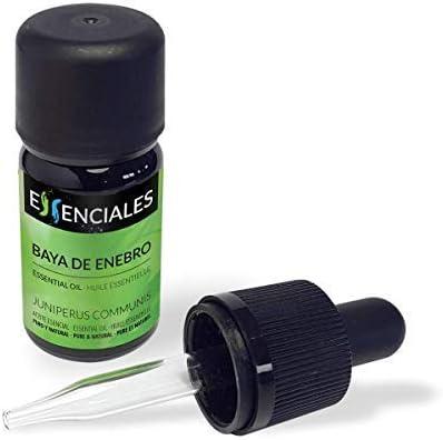 Essenciales - Aceite Esencial de Baya de Enebro, 100% Puro, 10 ml | Aceite Esencial Juniperus Communis
