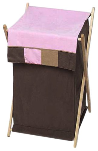 Sweet Jojo Designs Baby and Kids Clothes Laundry Hamper- Soho Pink and Brown Hamper-SohoPink