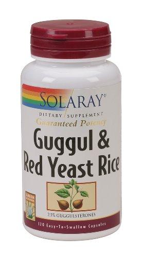 Solaray - Guggul et levure de riz rouge, 120 capsules