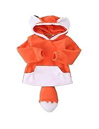 Baby Kids Boy Girls Fox Wolf Hoodie Animal Sweatshirt Home Outfits Costume