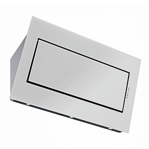 Futuro Futuro Quest White 48 Inch Wall-mount Range Hood, Angled Design, Stainless Steel & Glass, LED, Ultra-Quiet, with Blower Angled Hood