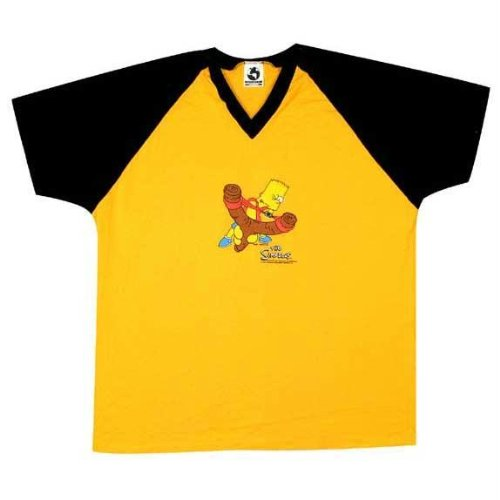 UPC 882512571793, Simpsons - Mens Simpsons - Bart Soccer Jersey One Size Yellow