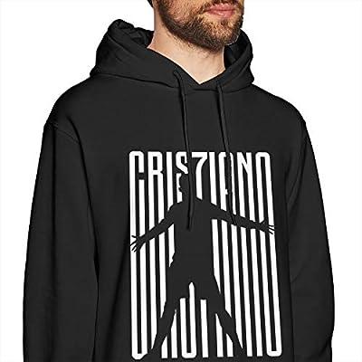 ViviHomeD CR7 Soccer Ronaldo Men's Hoodie Sweatshirt Youth/Adult Black