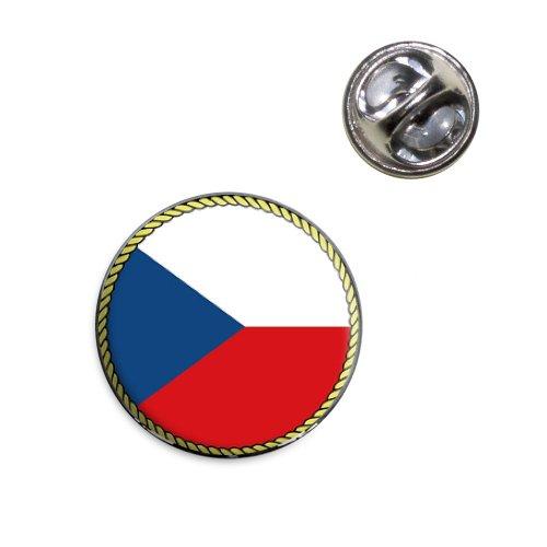 Flag of Czech Republic Lapel Hat Tie Pin (Republic Flag Lapel Pin)